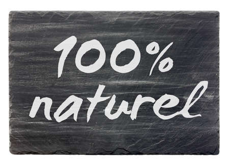 100 naturel piedra de pizarra francesa panel de aislados Foto de archivo