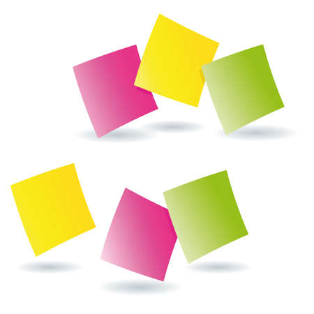 Hopping post it memos Vector