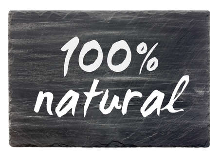 100percent natural - slate stone panel  isolated   Stock Photo