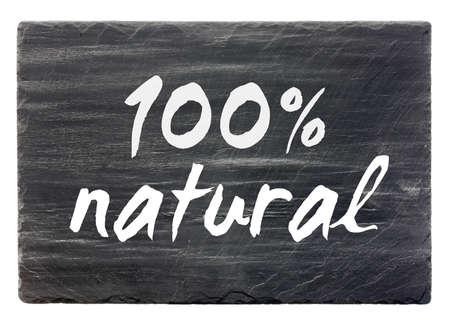 100percent natural - slate stone panel  isolated Stock Photo - 12375522