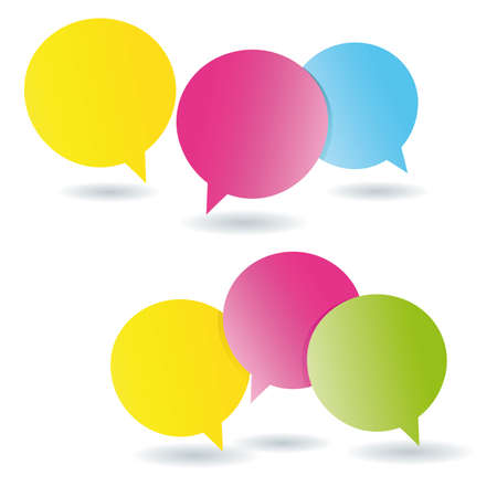 Speech bubbles post it memos Vector