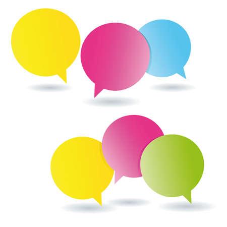 Speech bubbles post it memos