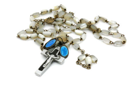 rosary beads: Former pearly beads rosary