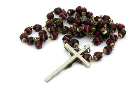 Former burgundy beads rosary Stock Photo - 12375545