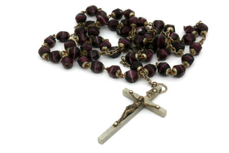 Former burgundy beads rosary photo