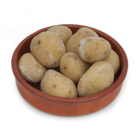 canarian: Canarian specialty - papas potatoes  isolated