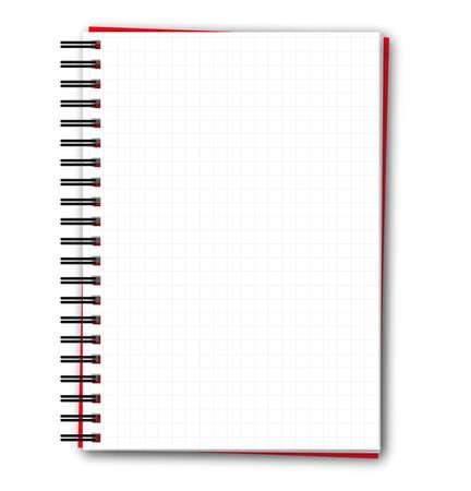 Bloc de notas de espiral cuadrada en blanco