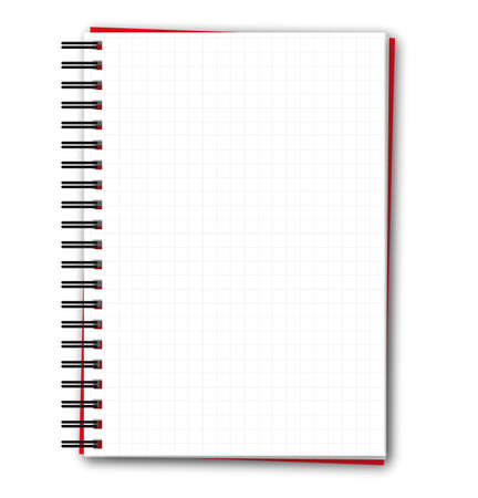 Squared blank spiral notebook Stock Vector - 12491397
