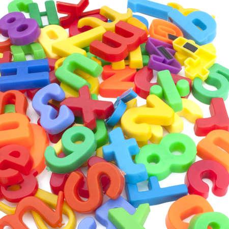 mágnes: Mágneses betűk és számok Stock fotó