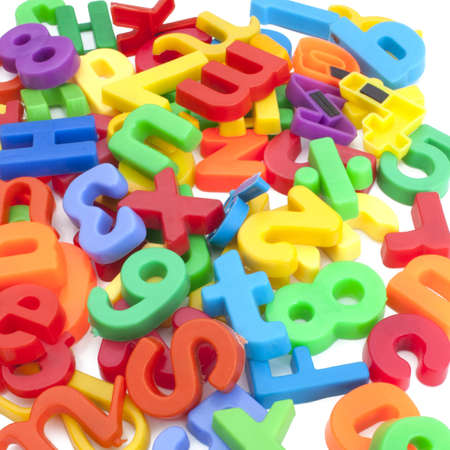 block letters: Magnetic letters and numbers