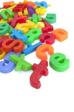 Magnetic letters and numbers Stock Photo - 12667349