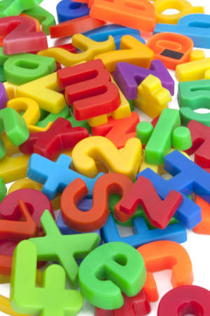Magnetic letters and numbers Stock Photo - 12667366