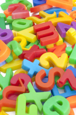 illiteracy: Magnetic letters and numbers
