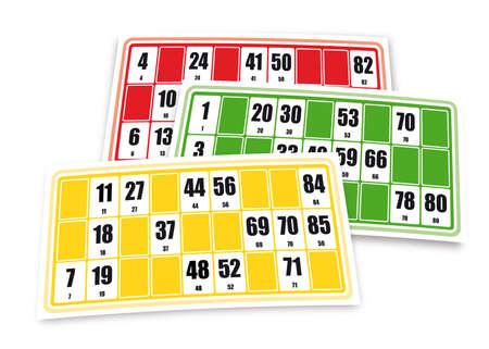 seniorenheim: Franz�sisch Loto Spiel Kartons (auf wei�em Hintergrund) Illustration