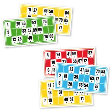 Franceses loto cartones de juego (en el fondo blanco)