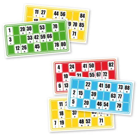 loto: French loto game cardboards (on white background)