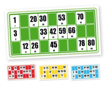 vectorized: Franceses loto cartones de juego (en el fondo blanco)