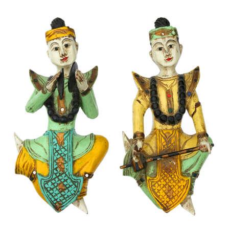 gamelan: Balinese gamelan musician statuette