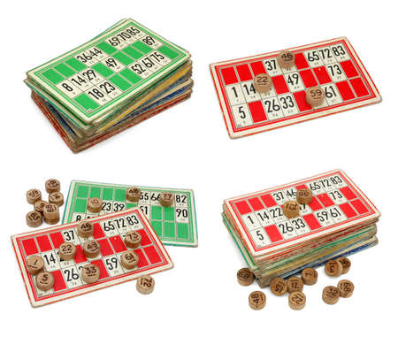 spare time: Old French loto game Stock Photo