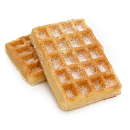 Waffle with sugar  isolated