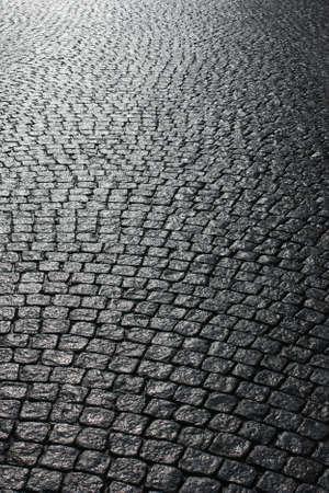 empedrado: Calle pavimentada Foto de archivo