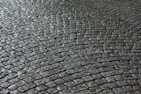 antique factory: Paved street  Stock Photo