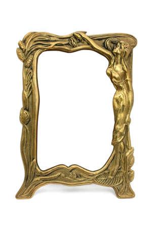 coppery: Quadro in bronzo con la donna isolata Archivio Fotografico