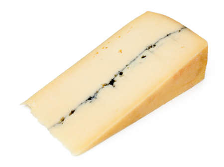 French cheese - Morbier  isolated  photo