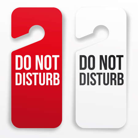 paper hanger: Do not disturb hotel door hanger