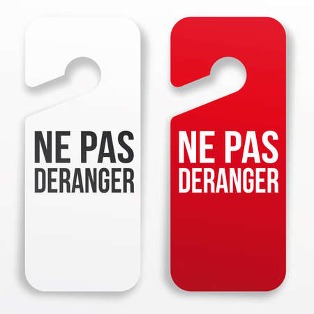 door tags: Ne pas d�ranger - hotel door hanger