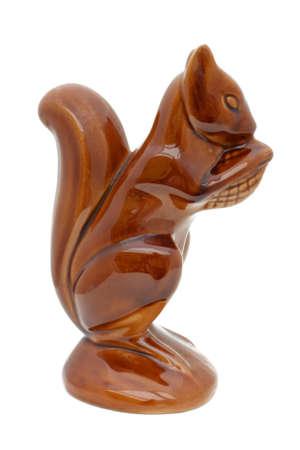 squirrel isolated: Ardilla de cer�mica aislados Foto de archivo