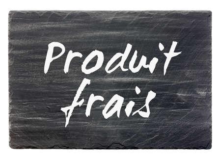 dark grey slate: Fresh product - French slate stone panel  isolated
