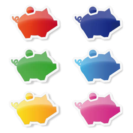 Piggy Bank iconos Vectores