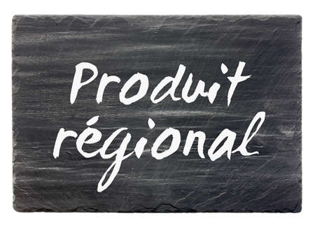 regional: Regional de producto - panel de piedra de pizarra francesa aislada