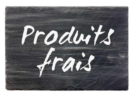 dark grey slate: Fresh products - French slate stone panel  isolated