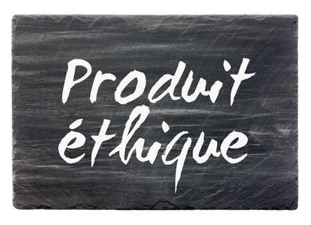 Ethical product - French slate stone panel  isolated Stock Photo - 13043965
