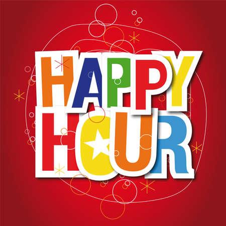 Happy hour sign Stock Vector - 13076738