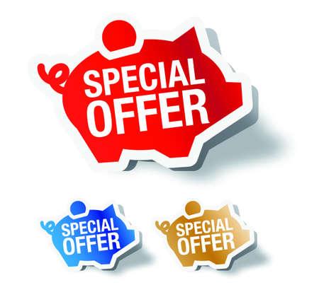 offerta speciale: Offerta speciale Vettoriali