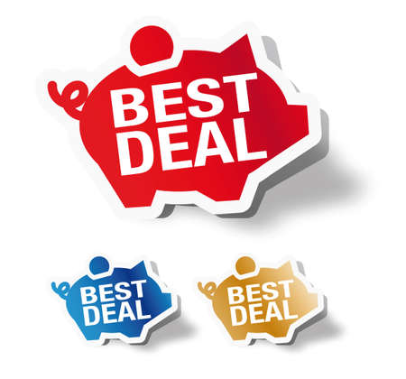 retail sales: Best deal - piggy bank sticker