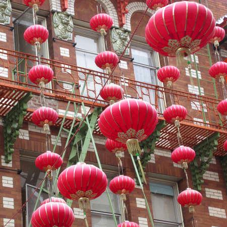 chinatown: Chinese lanterns in Chinatown, San Francisco