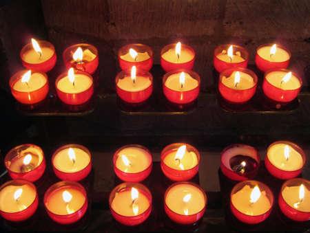 kink: Church candles Stock Photo