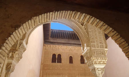 the  alhambra: Alhambra palace in Granada - Spain Editorial