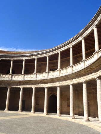 carlos: Alhambra palace in Granada - Palacios de Carlos V - Spain Editorial
