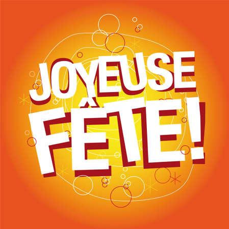 joyous celebration in French