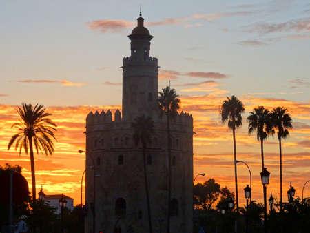 Torre del oro at sunset - Seville - Spain