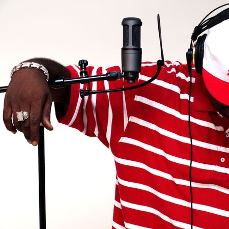 recordings: Rapperartistmusicianengineer Stock Photo