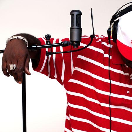 recording studio: Rapperartistmusicianengineer Stock Photo