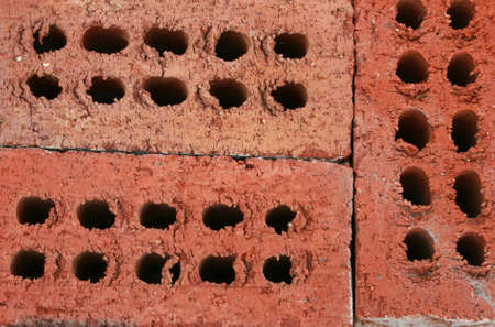 Background of three structural building bricks Banco de Imagens