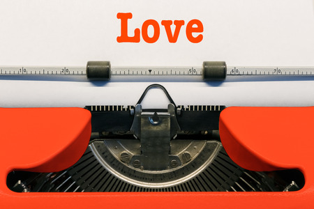 Love in Letters Stockfoto