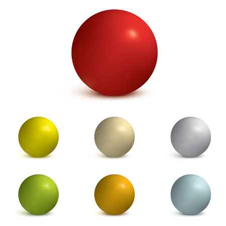 Collection of vector colored spheres. Vector